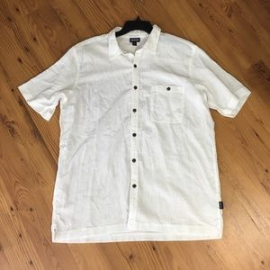 Patagonia Organic Cotton White Shirt Size XL